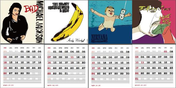 カレンダー開いた図